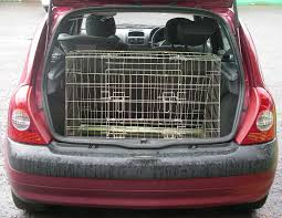 renault kadjar trunk renault clio 01 05 sloping car dog cage boot travel crate puppy