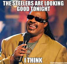 Steelers Meme - the steelers are looking good tonight i think meme stevie wonder