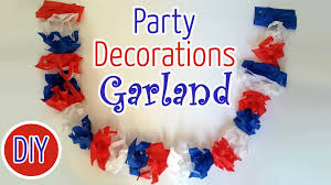 Holiday Decorations Diy National Holiday Decorations Garland Ana Diy Crafts Youtube