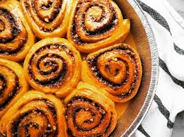 pumpkin cinnamon and pecan rolls with brunost caramel sauce my