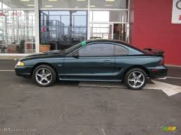 1995 deep forest green metallic ford mustang gt coupe 45497706