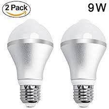 outdoor garage light bulbs chichinlighting 8 w e26 e27 warm white led motion sensor light bulb