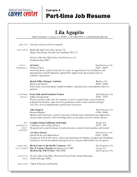 resume objective for part time job student jobs interesting resume models for part time jobs with additional