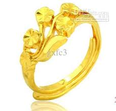 ring models for wedding 18 gold rings five flower opening ring models wedding ring
