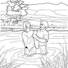 free coloring page baptism of jesus archives mente beta most
