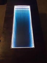Infinity Mirror Desk Infinity Mirror Color Changing Touch Table 7 Steps With Pictures