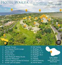 Maui Hawaii Map Hotel Wailea Maui Hotels