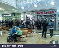 footlocker black friday sale sheffield uk 28th november 2014 shoppers queue at the foot