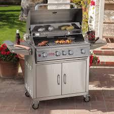 bull outdoor kitchens bull angus 4 burner bbq grill cart hayneedle