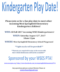 pta meeting invitation kindergarten playdate u2013 west springfield elementary pta