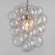 Cascading Glass Bubble Chandelier Bubble Glass Orb Chandelier Organic Form Blown Glass And