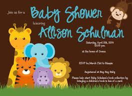 animal baby shower invitations plumegiant