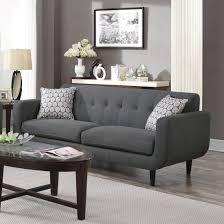 Mid Century Modern Sofa by Coaster Stansall Mid Century Modern Sofa In Grey