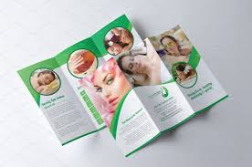 spa u0026 beauty salon brochure brochure templates creative market