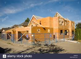 modern design house made of wood under construction richmond