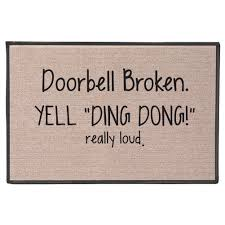 amazon com doorbell broken yell ding dong really loud doormat