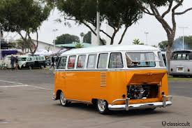orange volkswagen van the classic vw show june 12 2016 ca usa classiccult