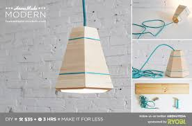 Diy Pendant Lights Modern Ep42 Wood Pendant L