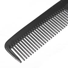 tooth comb black plastic unisex hair space tooth comb pocket durable portable