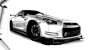 nissan gtr skyline drawing how to render with markers nissan gtr sketch and illustration
