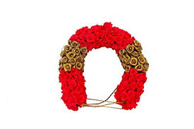 flower decoration for hair buy redtissue veni flower for bridal hair decoration online at low