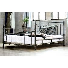 Black Metal Bed Frame Furniture Of America Revo Industrial Antique Black Metal Bed