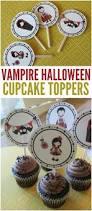 free printable vampire halloween cupcake toppers halloween