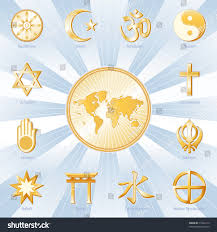 Islam World Map by Religions Faiths World Map Buddhism Islam Stock Illustration
