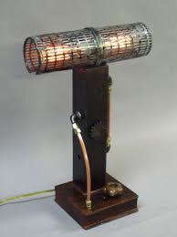 Tall Desk Lamp by Dual Edison Desk Lamp Steampunk Works Of Art