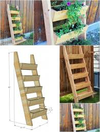 garden planter designs multi level wooden herb planter diy
