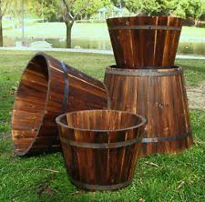 wine barrel planter ebay