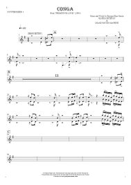 Gazebo I Like Chopin Piano Sheet Music by Conga Notes For Synthesizer Synth Brass Synth Pad Playyournotes