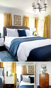 Bedrooms With Grey Walls by Best 25 Navy Curtains Bedroom Ideas On Pinterest Navy Master