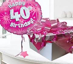 40th birthday delivery happy 40th birthday balloon in a box code jgf40h40bb 40 year