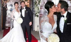 christine bleakley weds frank lampard stuns in lace wedding dress