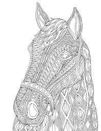 horse zentangle design printable coloring page animales