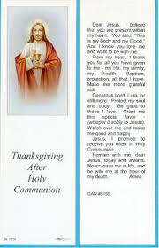 after holy communion bookmark