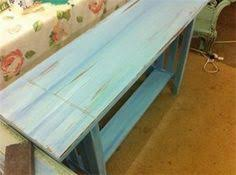 pretty antique bench painted with coastal colors lapis paint