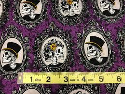 vintage halloween fabrics purple halloween skull vintage steam punk style fabric haunted