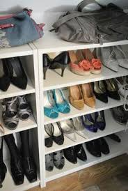 billy bookcase shoe storage billy bookcases from ikea used as shoe shelves my dressingroom