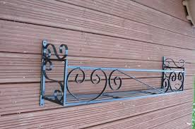 Metal Window Boxes For Plants - window box trough holder 46in length