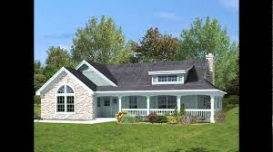 country homes plans with wrap around porches
