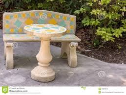 Outside Benches Home Depot by Concrete Patio Furniture Stock Photo Image Pics On Remarkable