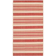 Safavieh Outdoor Rugs Safavieh Courtyard Beige Red 2 Ft X 3 Ft 7 In Indoor Outdoor
