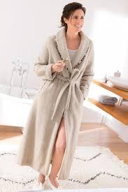 bernard solfin robe de chambre de chambre pour femme avec robe de chambre femme col chale acrylique