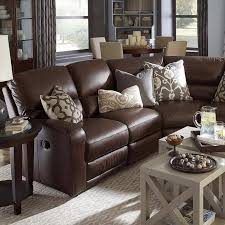 brown sectional sofa decorating ideas furniture wonderful classic style dark brown leather living room