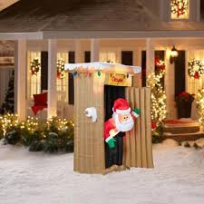 Animated Outdoor Christmas Decorations by Amazon Com Christmas Inflatable 6 Ft Tall Animated Led Lighted
