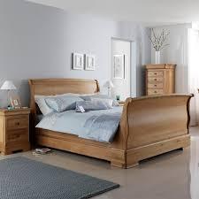 lyon wooden sleigh bed frame wooden beds cuckooland