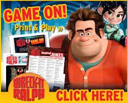 free printables wreck ralph arcade fun wreckitralph carrie