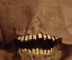 how to make moving halloween props how to make a scary scarecrow mask with moveable jaw 7 steps